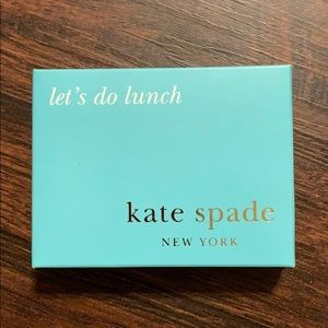 "Kate spade ""Lets do lunch"" business card holder"